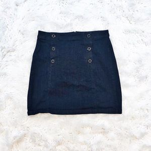 Loft nautical style stretch denim skirt